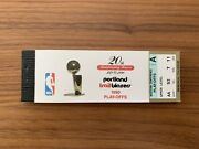 Rare 1990 Playoffs And Nba Finals Trailblazers Pistons Full Complete Ticket Book