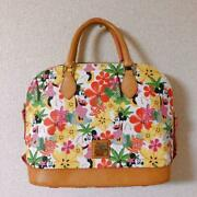 New Disney Dooney And Bourke Aulani Minnie In Paradise Floral Zip Satchel Bag