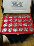 50 Coins Proof Silver .9999 Wwii Aircrafts Minted In Marshall Islands Qty 24
