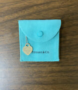 Cute Genuine And Co Sterling Silver 925 Heart Tag Pendant Necklace W Pouch