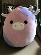 Patty The Rare Pink And Purple Cow Squishmallows Htf 16andrdquo Kellytoy Nwt Fast Ship🐄