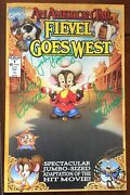 An American Tail Fievel Goes West 1991 1 - Comic Signed By Don Bluth And More