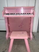Barbie Schoenhut Style Upright Pink Piano Vintage Fun Sound With Seat