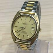 Omega Chronometer C Line Officially Certified Automatic Gold Analog Wristwatch