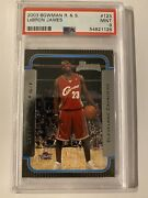 2003-04 Bowman Rookies And Stars Lebron James Rookie Rc Cavaliers Psa 9 High End 9