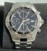 Tag Heuer Caf2110 Aquaracer Chronograph Analog Menand039s Watch Shipped From Japan