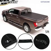 Tri-fold Soft Tonneau Cover For 2005-2019 Nissan Frontier Truck 5ft Short Bed