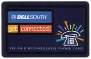 5. Bellsouth Get Connected Promo Serial Numbered Phone Card