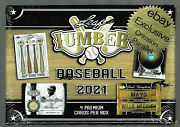 2021 Leaf Lumber Crimson Edition Factory Sealed Hobby Box 4 Cards D /7 Or Less