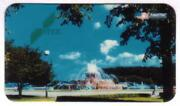 Itex Photo Of Water Fountain, Trees, Water Tower And Sky Bc 1992 Phone Card