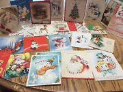 22 Lot Christmas Cards Used American Greeting Hallmark Ginnell Artistic Rust Cra