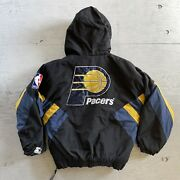 Vintage 90s Indiana Pacers Starter 1/2 Zip Pullover Jacket Size Small S Nba