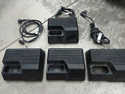 Lot Of 4 Motorola Saber Astro Radio Ntn4734a Rapid Charge Battery Chargers Radio