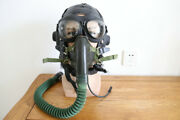 Early Mig Fighter Driver Leather Winter Flying Helmetgogglesoxygen Mask