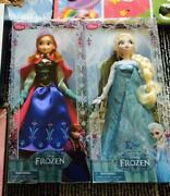 disney Frozen Anna And Snow Queen Elsa Lot Of 2 Doll Figure Shipped From Japan