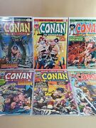 Conan The Barbarian Lot 6 - Marvel 434445464748 - Vf- 7.5 Or Higher
