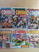 Conan The Barbarian Lot 6 - Marvel 656667686970 - Vf- 7.5 Or Higher