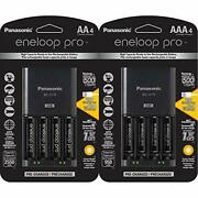 Panasonic Battery Charger With Usb Charging Port And 4aa Eneloop Pro Capacity...