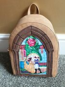 Danielle Nicole Beauty And The Beast Stained Glass Window Backpack