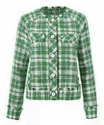 Cabi New Nwt Library Jacket 5653 Green White Black Plaid Was 184