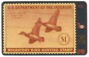 Duck Hunting And Conservation Permit Stamps Cplt Set Of 62 Cards Gold Phone Card