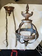 20's 30's Hotel/theater Arts And Crafts/nouveau Chandelier Architectural Salvage