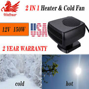 12v Car Portable Electric Heater Auto 150w Cooling Fan Demister Defroster Dc Us