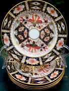 Set Of 6 Traditional Mari 2451 Royal Crown Derby 6 Bread And Butter Plates