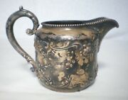 Mermod And Jaccard's Sterling Silver Cream Pitcher Beaded Rim Rare Gorham Antique