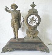 Ansonia Don Caesar Mantle Clock 1800and039s With Two Original Winding Keys