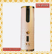 Hair Curler Cordless Auto Rotating Curler Waver Curling Iron Wireless Champagne