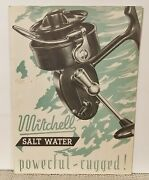 Rare And Htf Mitchell Salt Water Fishing Reel Brochure Manual Early 1950s Parts
