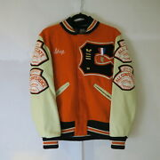 Vintage Whiting Tennis Chaparral Graphic Jacket 36 S Usa Made Wool Leather 70s
