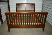 Ethan Allen American Impressions Queen Sleigh Bed Cherry 24-5640 224 Ca 2000 A