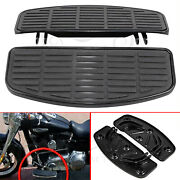 Front Driver Footboards Rubber Inserts And Bottoms For Harley Softail Fl Fld Trike