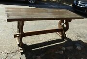 French Antique Farm Table/ Desk/ Dining Table Rustic