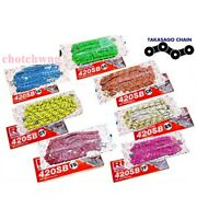 Rk Motorcycle Chain Colors 420-120l Stunt Parts Accessories Road Bike Speed Pink