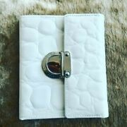 Giorgio Fedon 1919 Menand039s/unisex Croc Embossed Leather Off White Wallet Nwot
