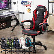 Home Gaming Chair High-back Swivel Office Working Padded Desk Seat Furniture Us