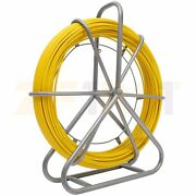 492ft 8mm Fiberglass Fish Tape Scroll Wire Cable Conduit Puller Duct Rodder