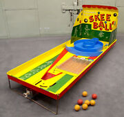 Vintage 1950's Marx And Co. Skee Ball Game Steel And Original 7 Balls
