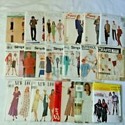 Sewing Patterns Lot Of 17 Simplicity Mccalls Butterick New Uncut