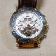 Salvatore Marra Sm-7023ss 3 Atm Water Resistant Day Date Chronograph Menand039s Watch