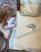 Antique 1890and039s 4 Poster Brass Doll Bed- -fits Up To 18and039and039 Doll. Doll Not Included