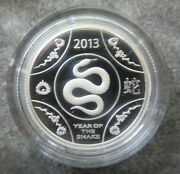 Australia 2013 Year Of The Snake Lunar One Dollar Silver Proof Coin