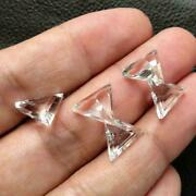 Crystal Quartz Triangle Faceted Cut Shape Loose Gemstone Size 16mm To 20mm
