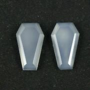 Natural White Moonstone Coffin Shape Tablet Faceted Cut Cut Size 18x9mm
