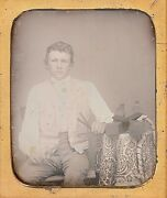 Occupational Carpenter With Planes Wood Shavings 1/6 Plate Daguerreotype F242