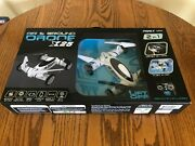 Playtek Rechargeable Air And Ground Drone X25 300 Ft Range Led Lights. New In Box