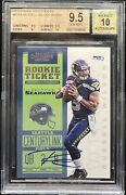 Bgs 9.5 💎 2012 Russell Wilson Panini Contenders Rc Rookie Auto Low Pop 10 Sub